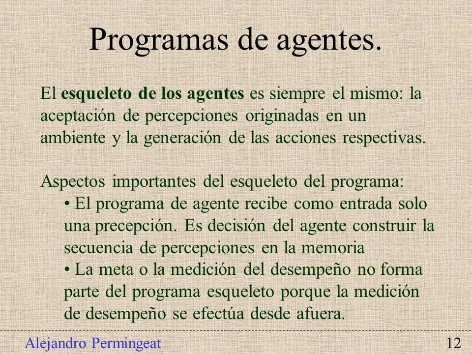 Programas de agentes.