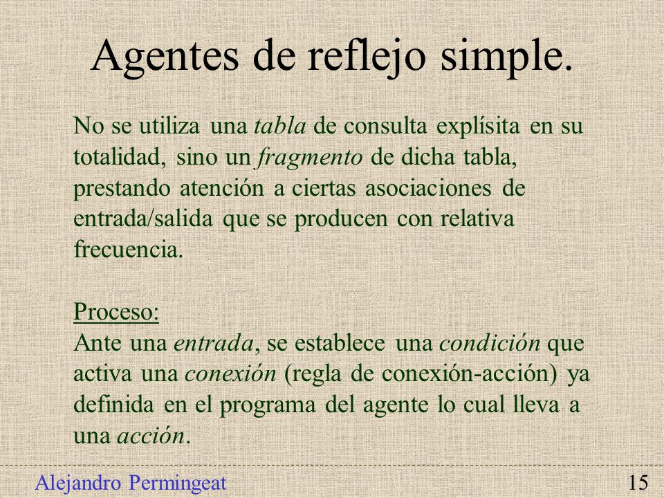 Agentes de reflejo simple.