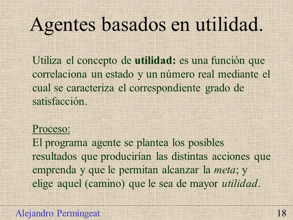 Agentes basados en utilidad.