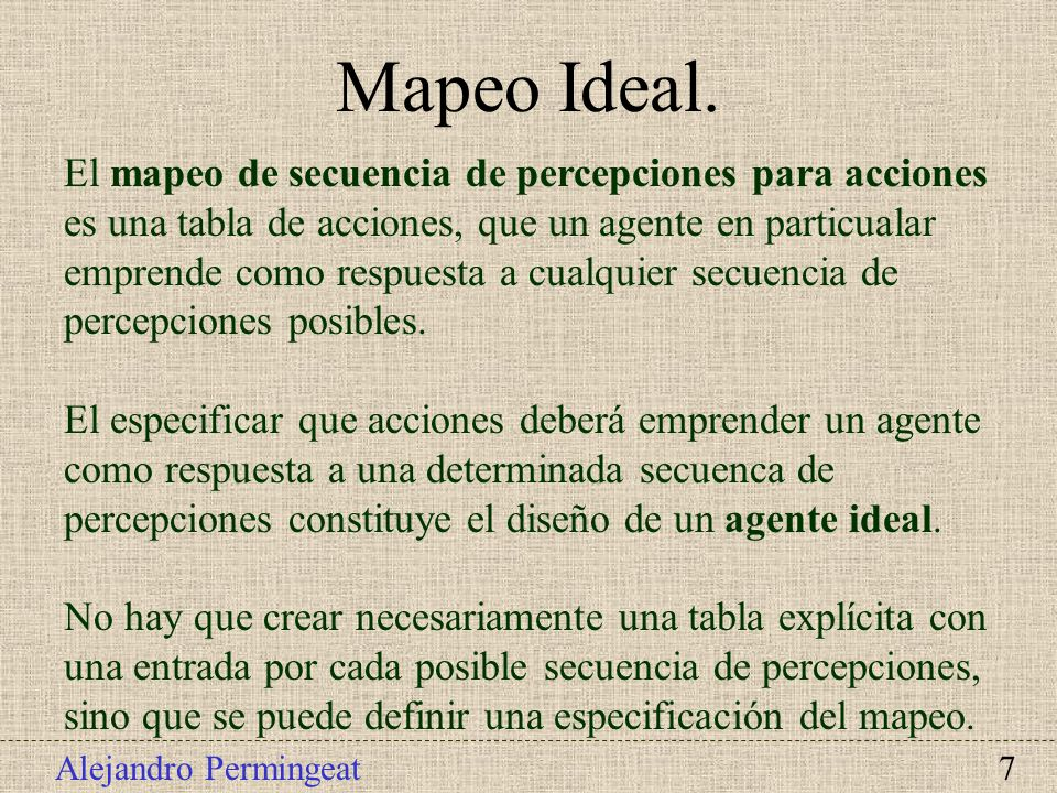 Mapeo Ideal.
