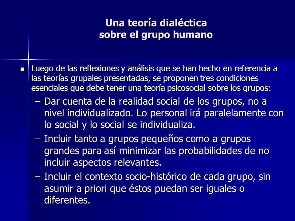 Una teoría dialéctica sobre el grupo humano