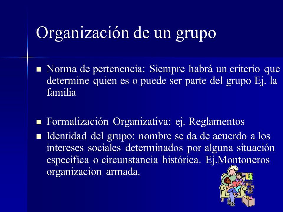 Organización de un grupo