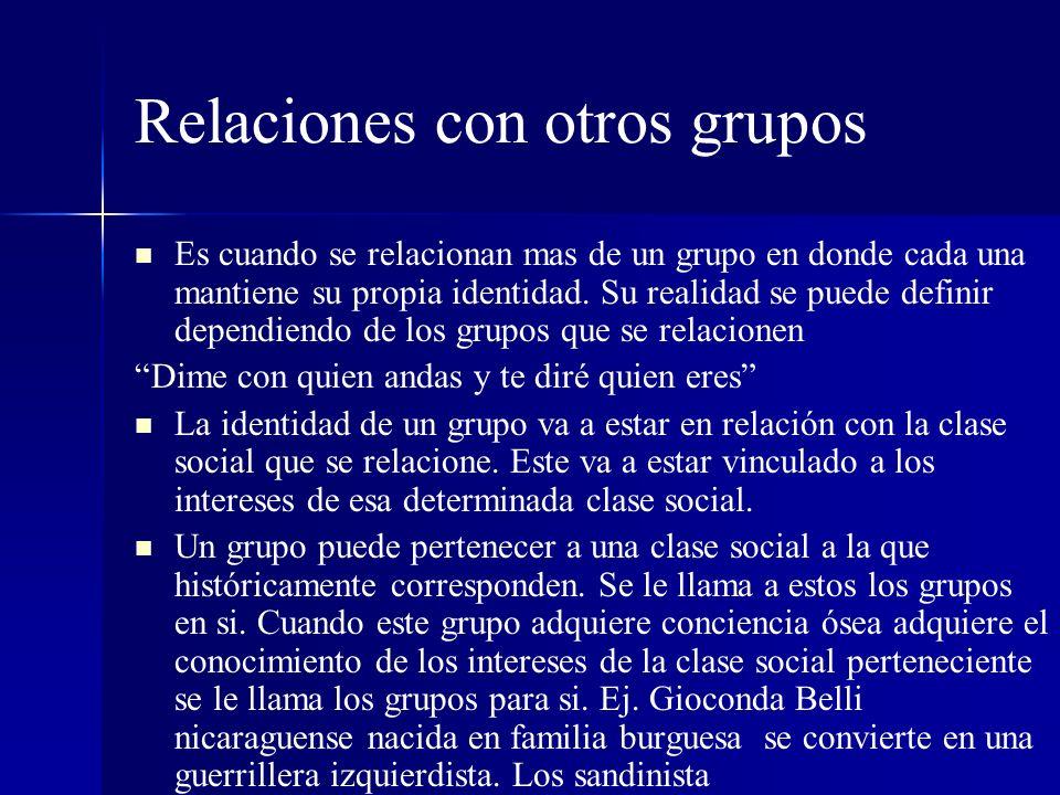 Relaciones con otros grupos