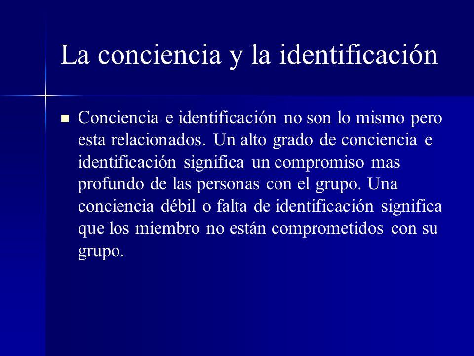 La conciencia y la identificación