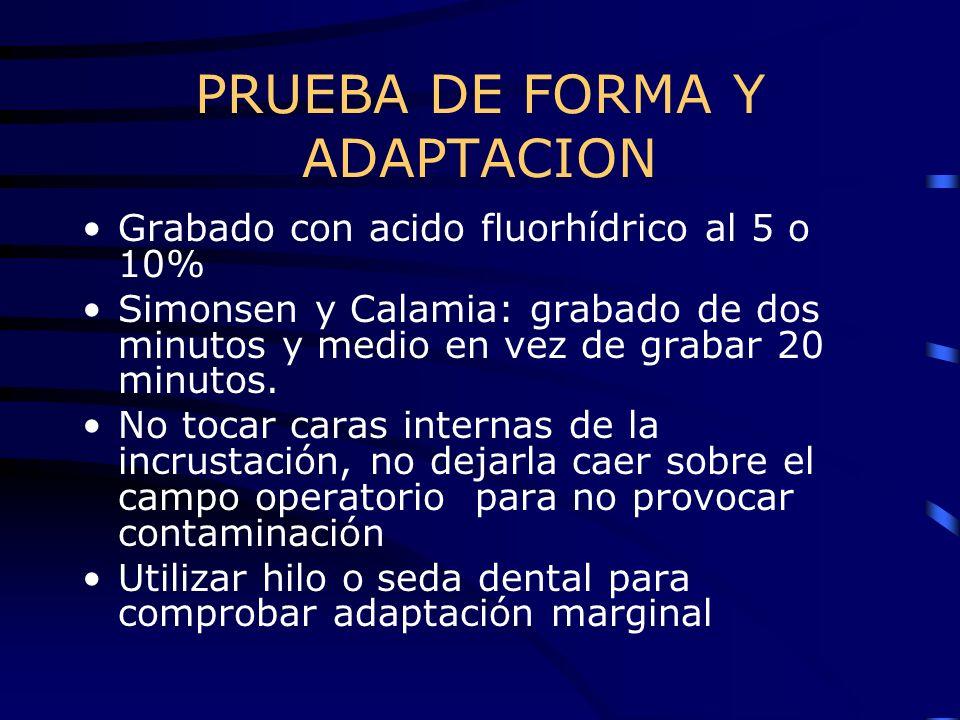 PRUEBA DE FORMA Y ADAPTACION