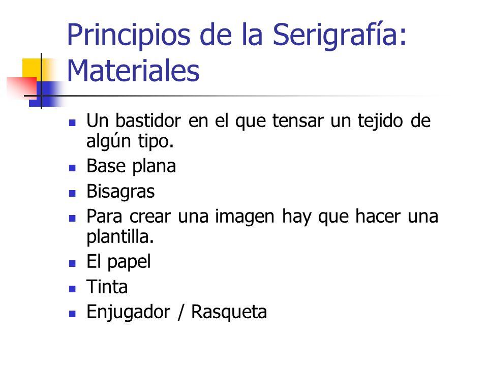 Principios de la Serigrafía: Materiales