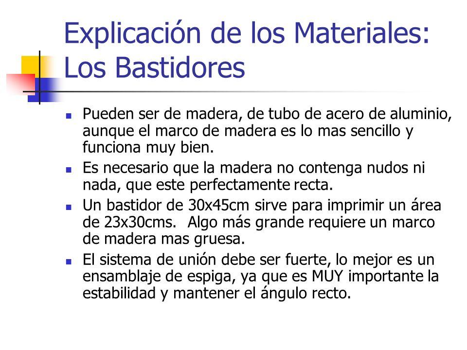 Explicación de los Materiales: Los Bastidores
