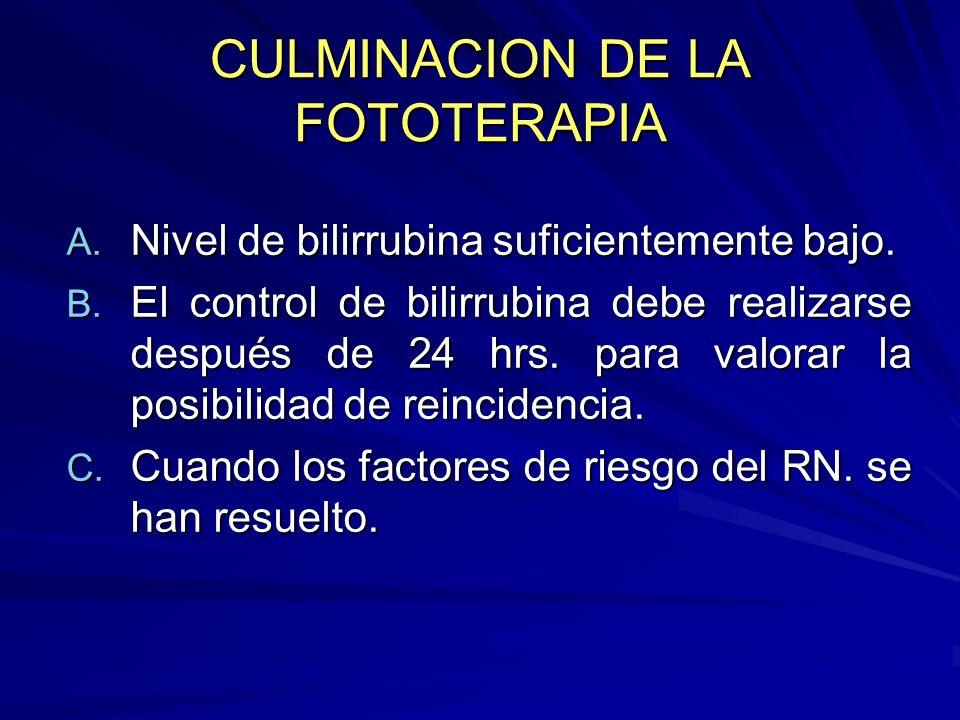 CULMINACION DE LA FOTOTERAPIA