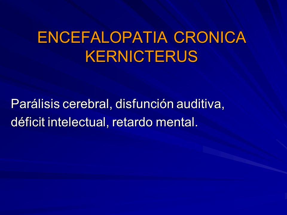 ENCEFALOPATIA CRONICA KERNICTERUS