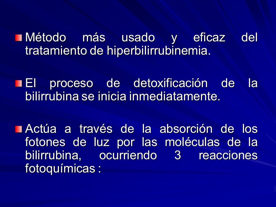 Método más usado y eficaz del tratamiento de hiperbilirrubinemia.