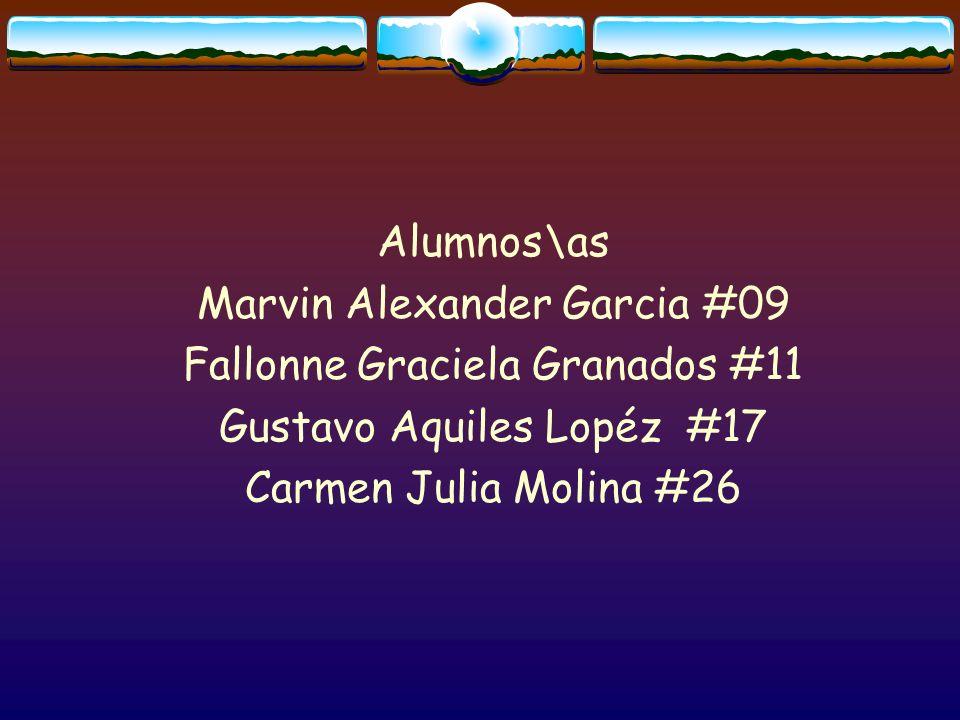 Marvin Alexander Garcia #09 Fallonne Graciela Granados #11