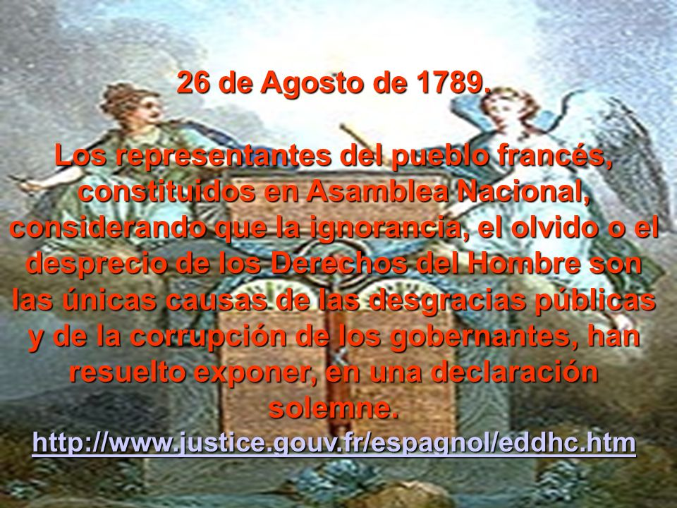 26 de Agosto de 1789.