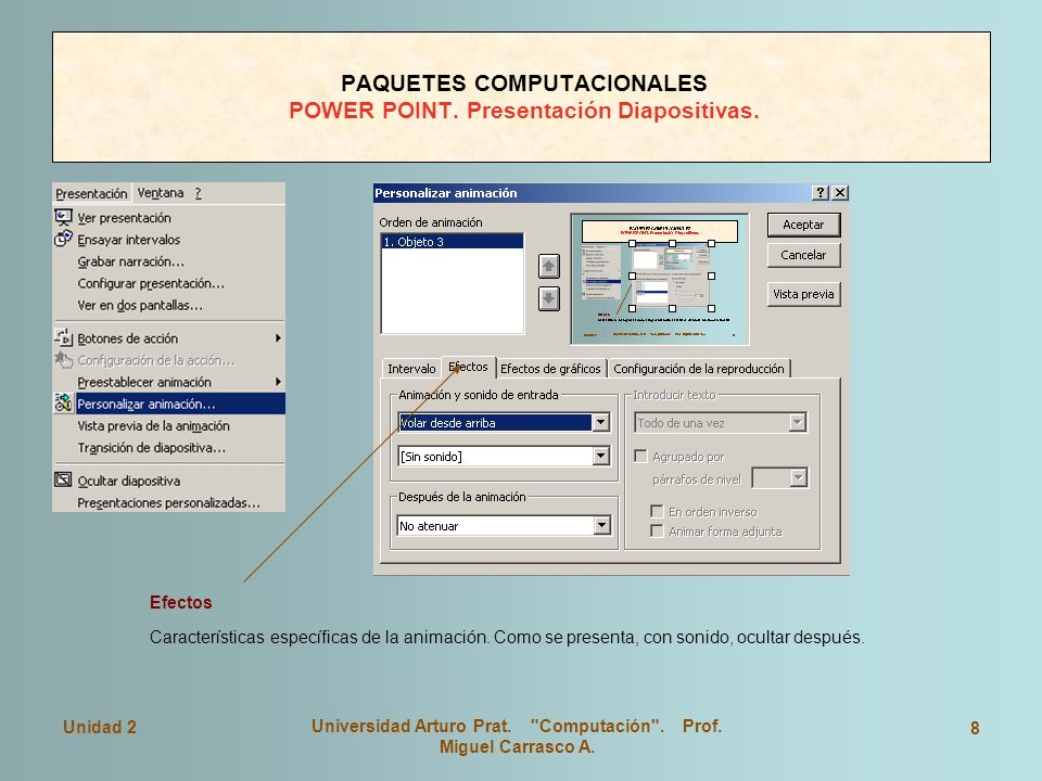 PAQUETES COMPUTACIONALES POWER POINT. Presentación Diapositivas.