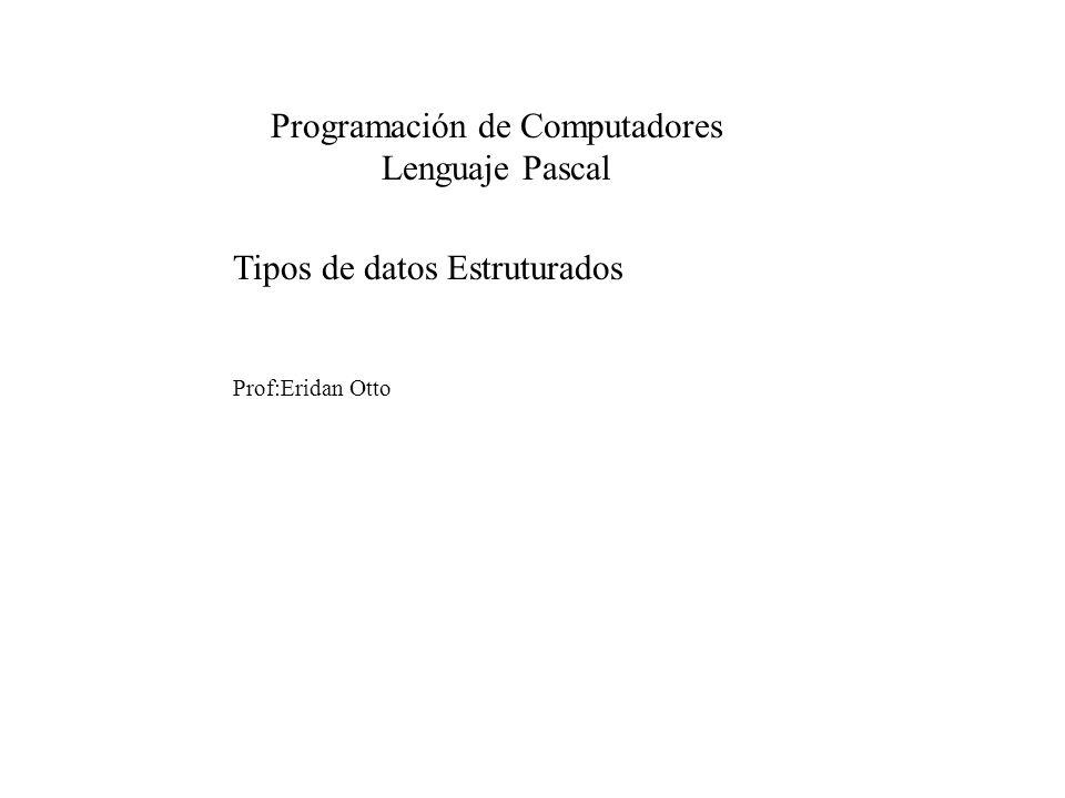 Programación de Computadores