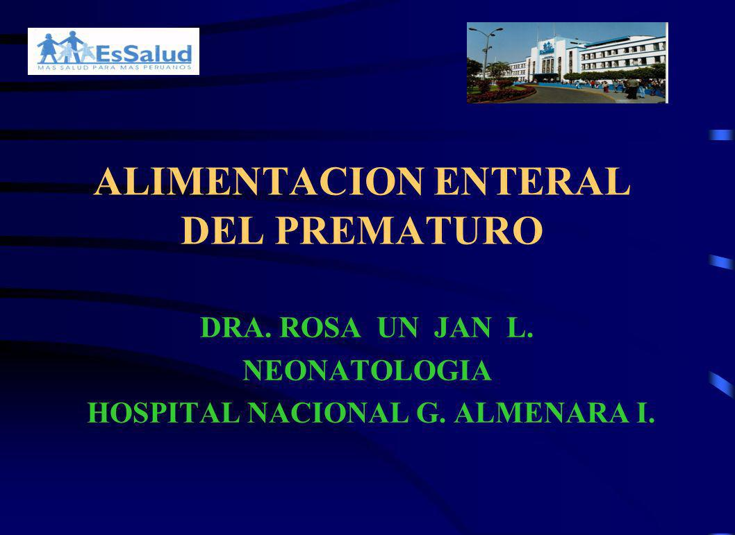 ALIMENTACION ENTERAL DEL PREMATURO