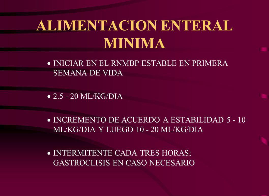 ALIMENTACION ENTERAL MINIMA