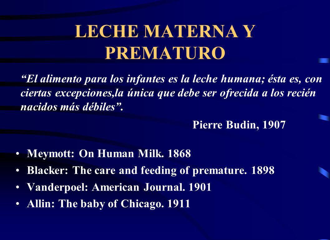 LECHE MATERNA Y PREMATURO