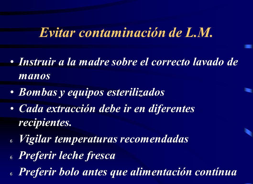 Evitar contaminación de L.M.