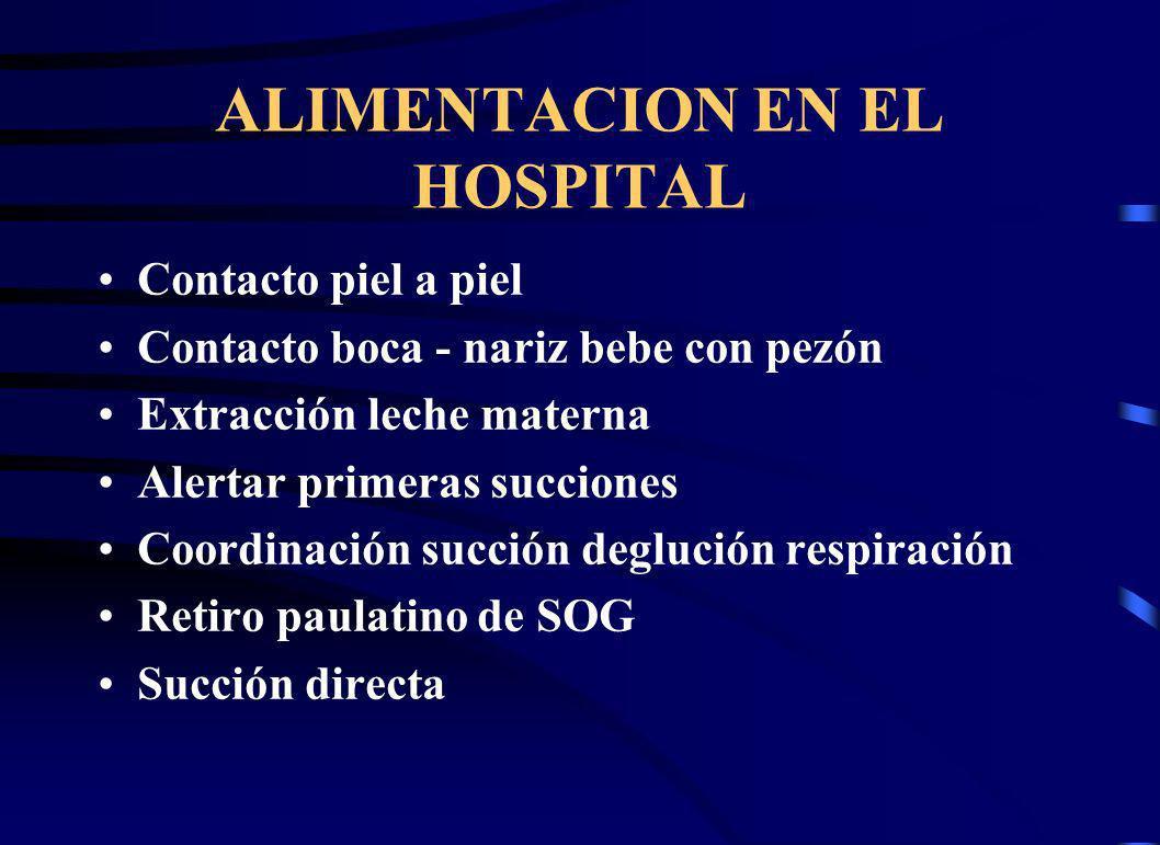 ALIMENTACION EN EL HOSPITAL