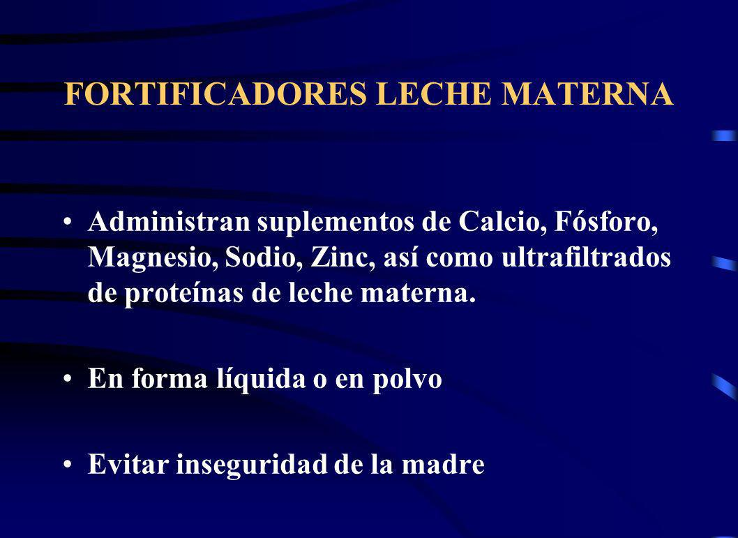 FORTIFICADORES LECHE MATERNA