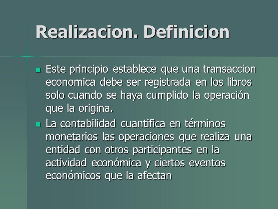 Realizacion. Definicion