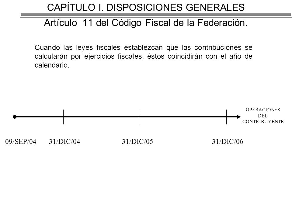 CAPÍTULO I. DISPOSICIONES GENERALES Artículo 11 del Código Fiscal de la Federación.