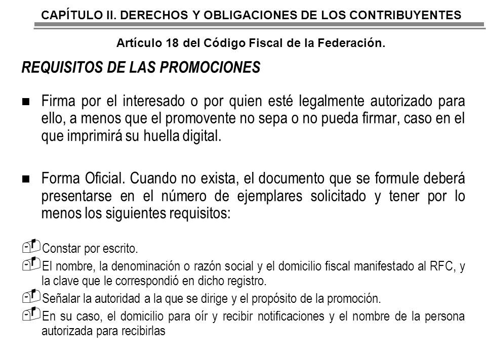 REQUISITOS DE LAS PROMOCIONES
