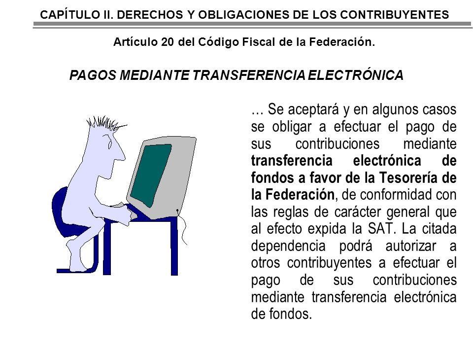 PAGOS MEDIANTE TRANSFERENCIA ELECTRÓNICA