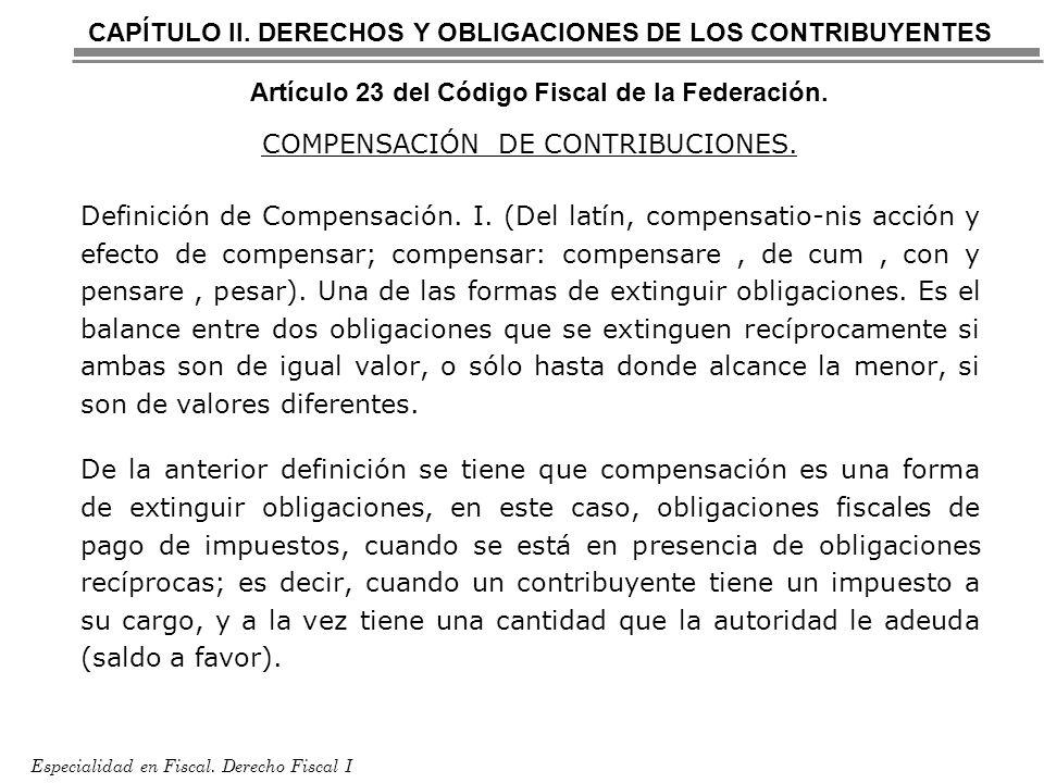 COMPENSACIÓN DE CONTRIBUCIONES.