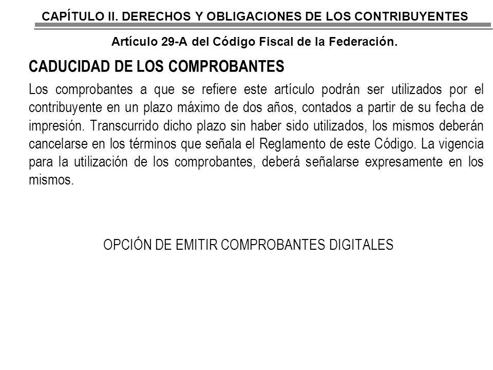 OPCIÓN DE EMITIR COMPROBANTES DIGITALES