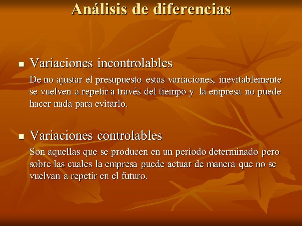 Análisis de diferencias