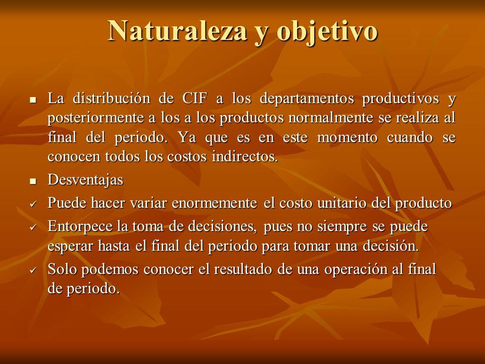 Naturaleza y objetivo