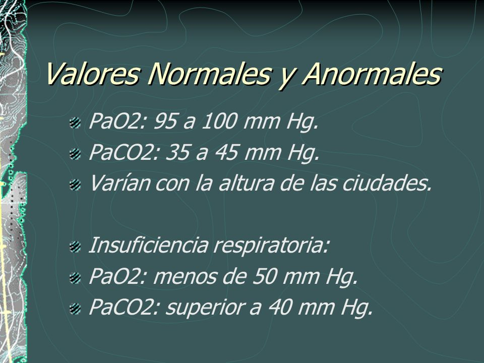 Valores Normales y Anormales