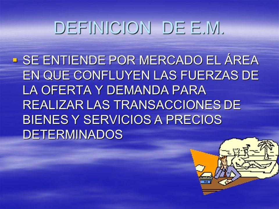 DEFINICION DE E.M.