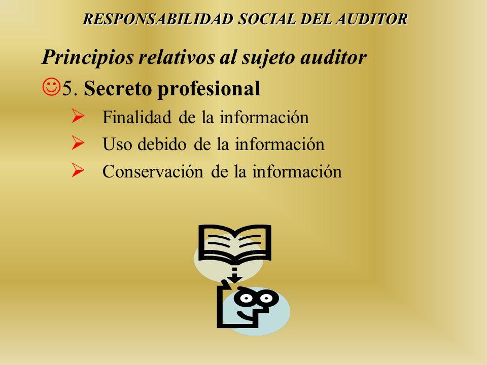 RESPONSABILIDAD SOCIAL DEL AUDITOR