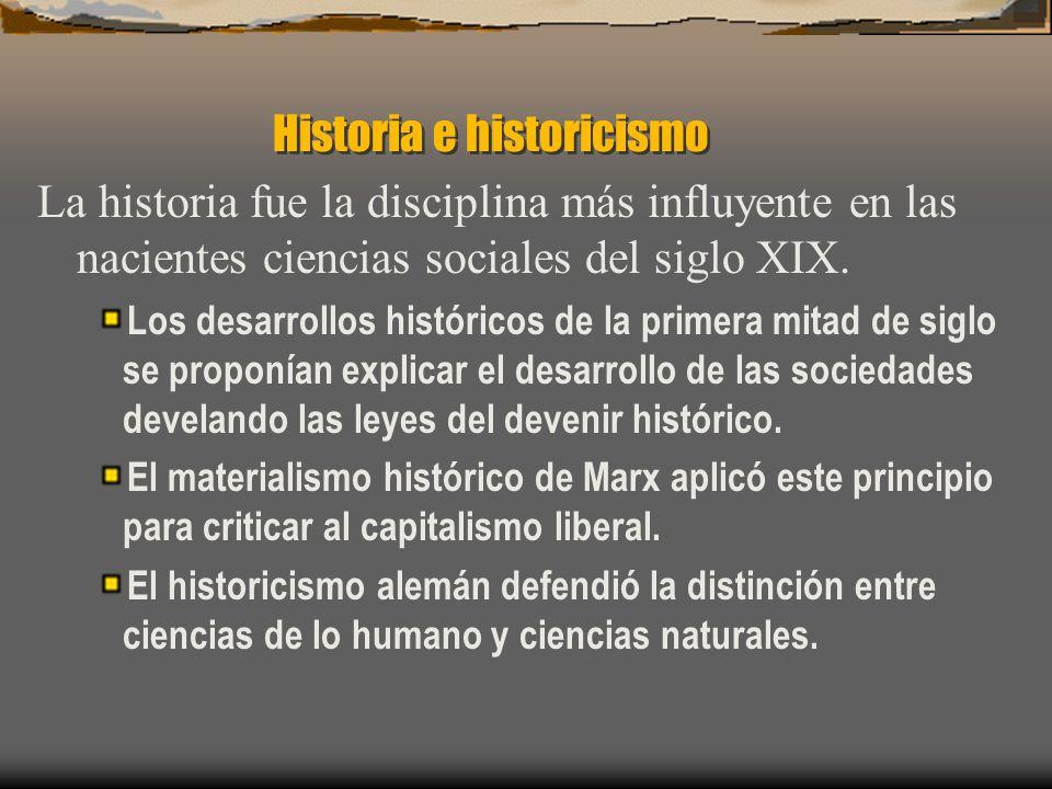 Historia e historicismo