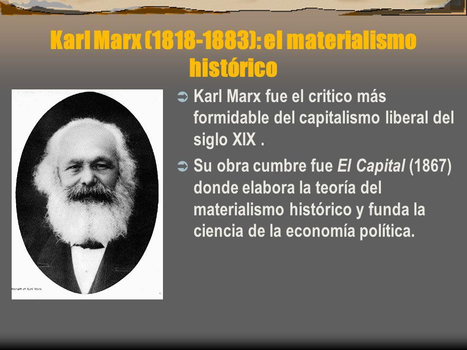 Karl Marx (1818-1883): el materialismo histórico