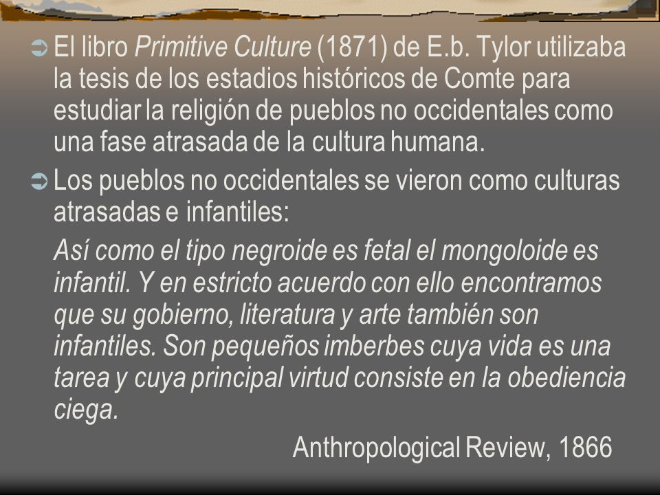 El libro Primitive Culture (1871) de E. b