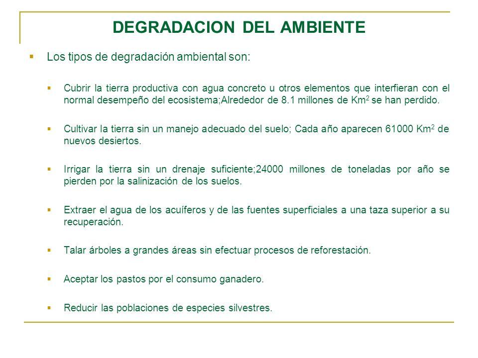 DEGRADACION DEL AMBIENTE