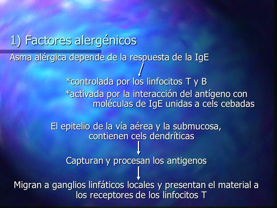 1) Factores alergénicos