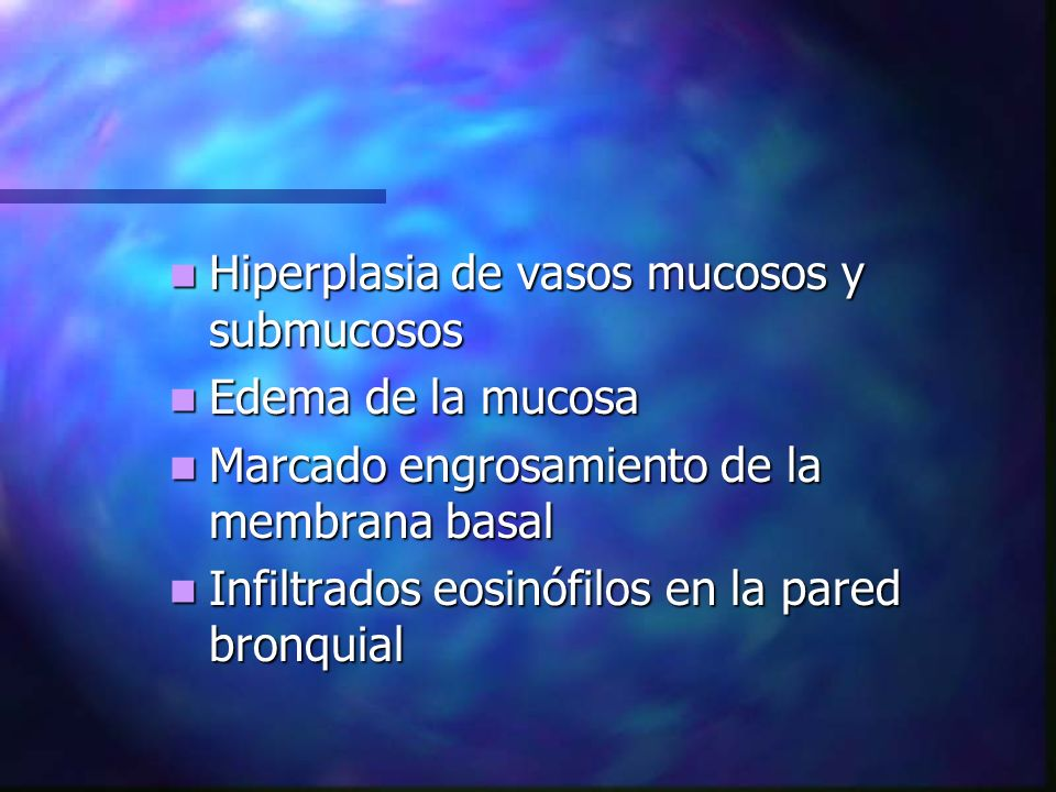 Hiperplasia de vasos mucosos y submucosos