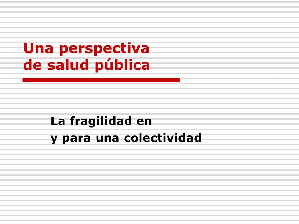 Una perspectiva de salud pública