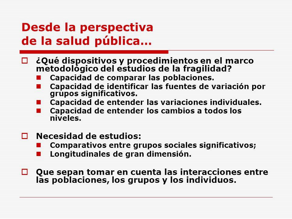 Desde la perspectiva de la salud pública…