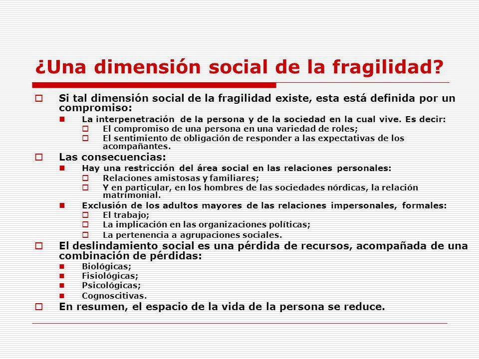 ¿Una dimensión social de la fragilidad