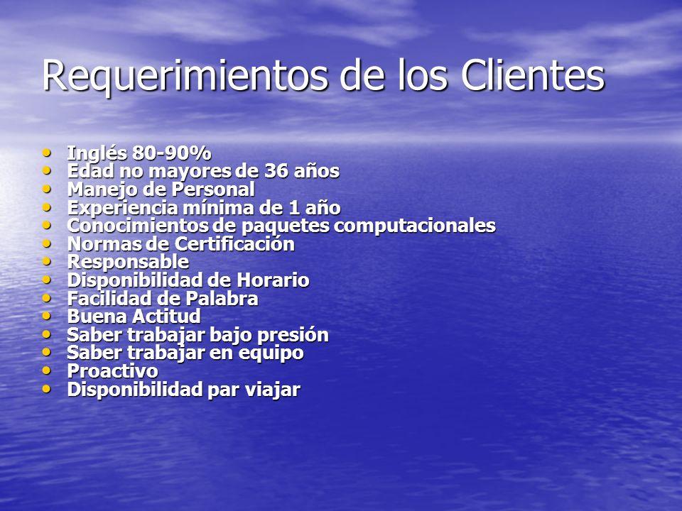 Requerimientos de los Clientes