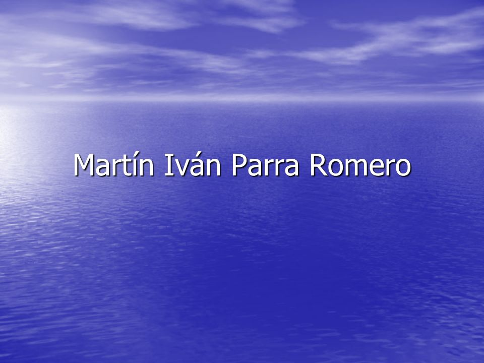Martín Iván Parra Romero