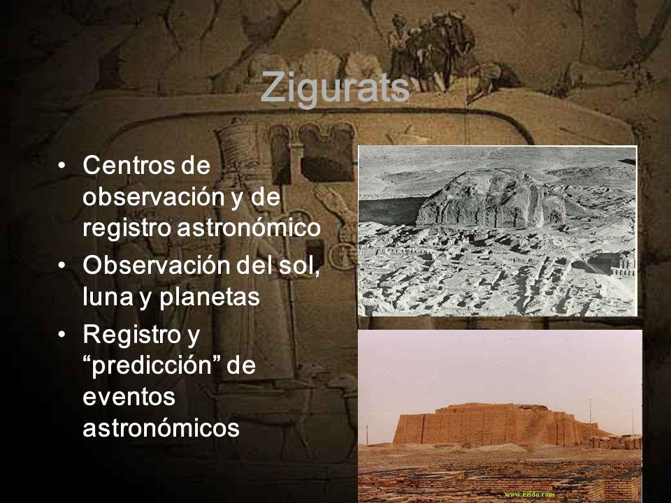 Zigurats Centros de observación y de registro astronómico