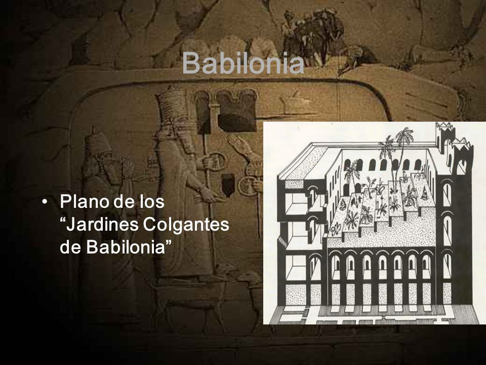 Babilonia Plano de los Jardines Colgantes de Babilonia