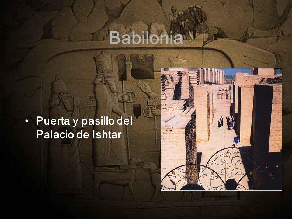 Babilonia Puerta y pasillo del Palacio de Ishtar