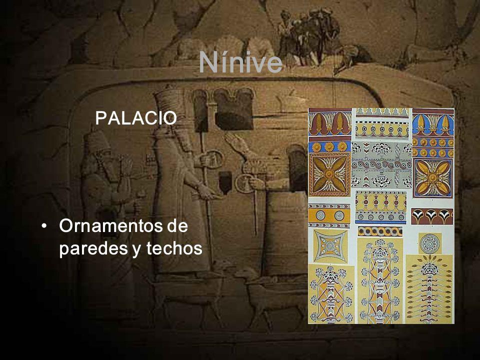 Nínive PALACIO Ornamentos de paredes y techos